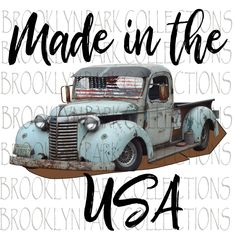 Items similar to Made in the USA Vintage Truck American Flag - Sublimation Transfer Ready to Press on Etsy Rose Thorn Tattoo, Flag Design, Fun Prints, Usa Flag, Framed Artwork, American Flag, Vintage Designs, Trucks, Digital