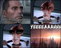 Mordin's advice to Shepard if he's going to be with Jack | Mass Effect