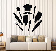 Vinyl Wall Decal Chef Kitchen Restaurant Decor Cook Stickers (ig4092)