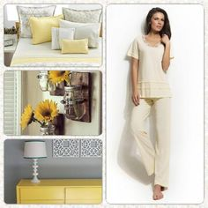 Yellow captures the essence of the sun and gives off a feeling of happiness. In fact, a yellow room will tend to make people more talkative and outgoing. Combine your favorite pale yellow Vamp! pyjama and enjoy happiness! http://www.vampfashion.com/index.php/collections/P942-ladies-pyjama-100-cotton #yellow #color_meaning #bedroom