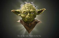 Kubisme. Star Wars. Green man.