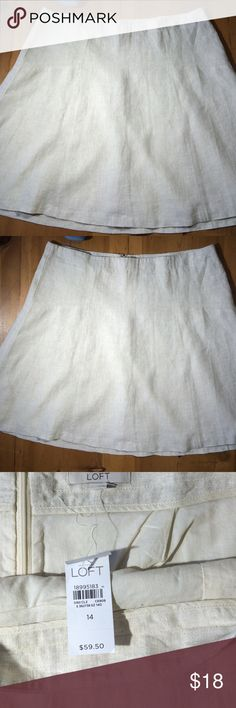 Ann Taylor Linen Skirt Linen lined skirt with tags never worn excellent condition great for summer Ann Taylor Skirts Midi