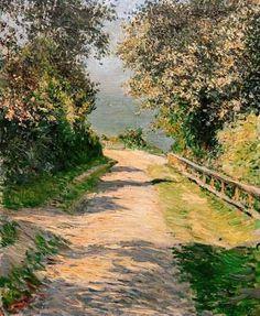 Gustave Caillebotte, Camino de la Villa de las flores, Trouville, 1883. Óleo sobre lienzo, 73 x 60 cm, Colección particular