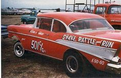 """Vintage Gasser Chevy """"Shake, Rattle and Run"""" Nhra Drag Racing, Auto Racing, Chevrolet Trucks, 1957 Chevrolet, Chevrolet Impala, Automobile, Shops, Old Race Cars, Fancy Cars"""