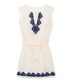 MARGHERITA DRESS - IVORY / TORY NAVY