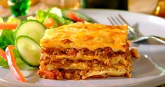 #Lamb #Lasagne: Layered #pasta with mutton mince topped with #cheese cooked in oven.