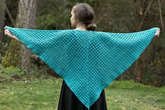 This V-stitch Shawl is a free pattern!