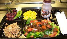School Lunch - Taco Salad and Whole Grain Spanish Rice