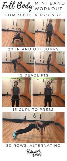 This Full Body Mini Band Workout will give you a full body burn with four simple moves! - Tap the pin if you love super heroes too! Cause guess what? you will LOVE these super hero fitness shirts!