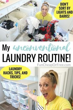 I'VE BEEN DOING LAUNDRY WRONG! This laundry routine is unconventional, and amazing! My clothes have never looked better! #laundrytips #cleaningtips #laundry #tipsandtricks