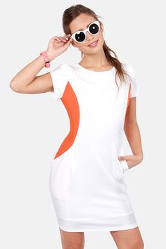 Check it out from Lulus.com! What's the cutest dress on the color block