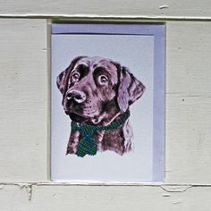 Fetch & Follow Greetings Card: Labrador