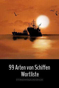 Schiffe ... 99 interessante Typen / Wortliste