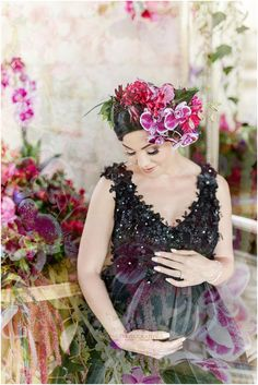 How gorgeous is this bump shoot with the most beautiful mother to be and gorgeous flowers. Bump Shoot, Portrait Photographers, Most Beautiful, Flowers, Photography, Wedding, Dresses, Fashion, Valentines Day Weddings