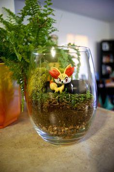 Fennekin Pokemon Terrarium by MaForet on deviantART