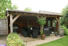 hovenier van brenk veranda buitenkeuken larikshout douglashout Garden Gazebo, Outdoor Living, Pergola, Shed, Home And Garden, Outdoor Structures, Google, Pictures, Exterior Homes