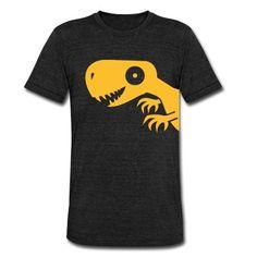 Een+kleine+dinosaurus.+Met+klauwen,+tanden+en+een+mooie+glimlach.+Een+gevaarlijke+T-Rex. T-shirts.