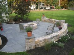 Stone Patio-Firepit  arseneaulandscaping.com