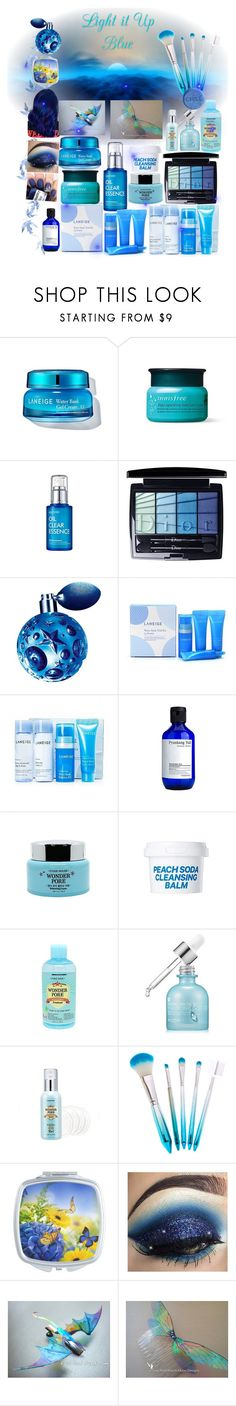 """""""Light it Up Blue."""" by aurorasblueheaven ❤ liked on Polyvore featuring beauty, Christian Dior, Thierry Mugler, Etude House and SkinCare"""