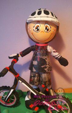 Fofucho Ciclista Subcampeón del Mundo bike trial.  Primer Plano. *Contactar conmigo en: mispecosasdegomaeva@gmail.com*       *Visita mi blog: http://mispecosasdegomaeva.blogspot.com.es*