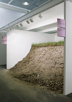 Petrit Halilaj, 'Kosterc (CH)' (2011) Soil, grass, metal container. Presentation at Art Basel 2011.