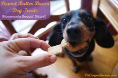 Homemade Peanut Butter Bacon Dog Treats - Pet Coupon Savings