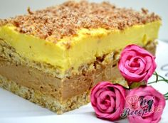 Vanilkový cheesecake s broskvemi Hungarian Recipes, Cake Bars, Sweet Desserts, Vanilla Cake, Nutella, Cake Recipes, Sweet Tooth, Cheesecake, Food And Drink