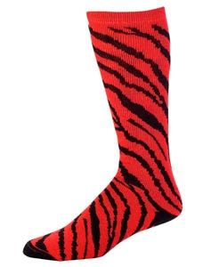 Pizzazz Girls White Zebra Stripe Knee High Socks Cheer Dance 12-5