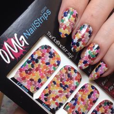 The Nailinator - OMG Nail Strips - Jellybean Jelly Beans, Just Me, Nail Art, How To Apply, Nails, Easy, Red Dates, Finger Nails, Ongles