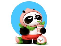 Hey Panda~ by lishun on Dribbble Mascot Design, Cute Panda, Show And Tell, Art Nouveau, Illustrator, Bears, Concept, Cartoon, Logo