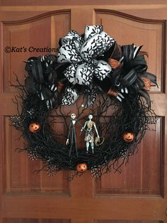 This was a unique custom order using collectible figures to make this incredible wreath.