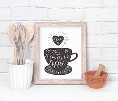 Kitchen Printable  Coffee Lover  Love is in the air and it