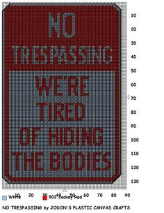 No Trespassing sign .... oh I love this one! (would also be cute as a  No Soliciting sign too!)                                                                                                                                                                                 More