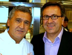 Paco Torreblanca and Daniel Boulud in New York.  Photograph by Gerry Dawes©2010. Contact mailto:gerrydawes...