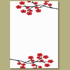 Red Cherry Blossoms Business Card $20.10 pack of 100