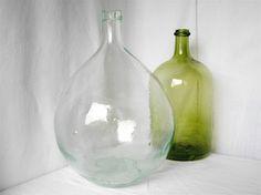 Vintage french antique demijohn wine bottle by myfrenchycottage