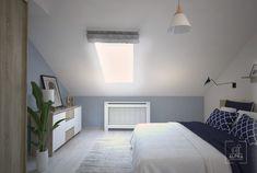 Skandynawska sypialnia na poddaszu. – ALPRA Soho, Bedroom Ideas, Rest, Sleep, Furniture, Home Decor, Decoration Home, Room Decor, Small Home Offices