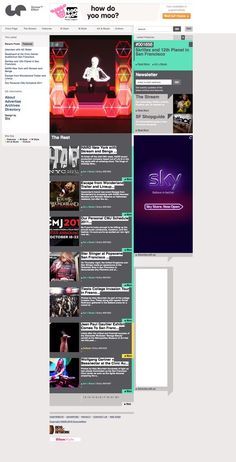 Groove Effect website making great use of a scrollable sidebar