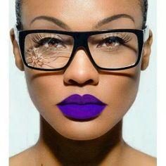Purple lipstick love