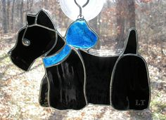 Stained Glass Scottish Terrier Scottie