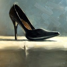 High Heel, painting by artist Michael Naples