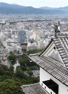 View from Matsuyama Castle, Ehime, Japan 松山城