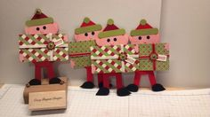 punch art elves by 1crazypenguin - Cards and Paper Crafts at Splitcoaststampers
