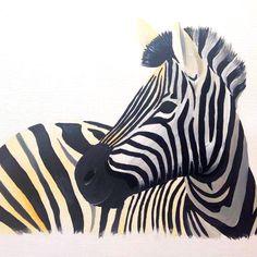 Zebra Acrylic on Canvas