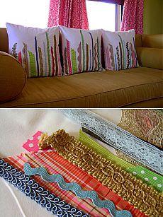 Замечательная идея по созданию оригинальных по-весеннему ярких подушек своими руками!.