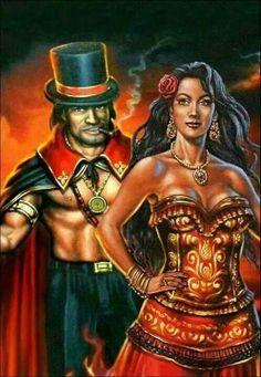 É seu Marabô e a Rainha Pombo Gira!
