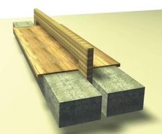 Contemporary Concrete & Wooden Bench Seat