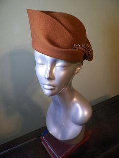 1ef06b111f7 Nutmeg Wool Hand-Blocked Sculpted Women s Hat - OOAK