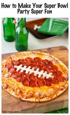 Superbowl Party Ideas >> http://redtri.co/1i2yZXI #Superbowl #Party #Pizza