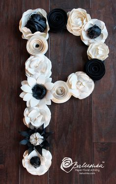 paper flower letter 18'' initial photo shoot prop by balushka, $250.00